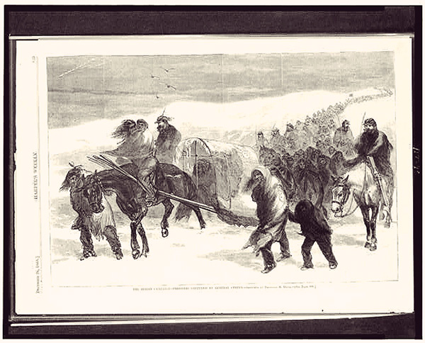 Indian-campaign---prisoners-captured-by-General-Custer